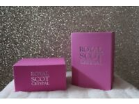 *BRAND NEW* Royal Scot Crystal - *Set of 2* Bowl & Jug *BOXED* - FINEST CRYSTAL