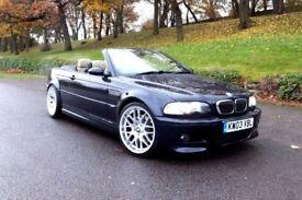2003 BMW E46 M3 FACELIFT CONVERTIBLE 6 SPEED MANUAL HEATED SEATS CSL ALLOYS