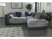 Superb BRAND NEW jumbo cord design corner sofa .black grey or brown beige.can deliver