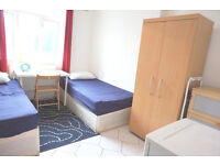 2 weeks deposit only! Double - Twin bedroom ready now. Bow, Mile end.