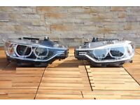 Car part: Pair of new OEM Left hand drive Bixenon Adapative headlights BMW F30 F31 2011 LHD