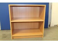Bookcase in strong wooden carcass - adjustable middle shelf