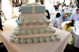 Square hand made 3 tier cake stand