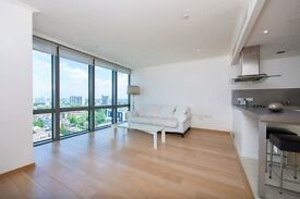 FURNISHED 1 BEDROOM APARTMENT WEST INDIA QUAY CANARY WHARF E14 VACANT & AVAILABLE NOW! 15th FLOOR