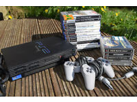 Sony Playstation 2 Console 64mb memory card and 18 games