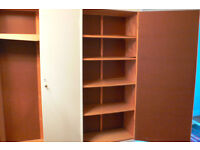Large home-made storage unit, disassembled. 211h x 292w x 46.5d cm. Needs DIY to reassemble.