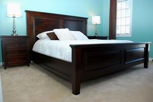 Solid Mahogany King Bed, Queen Bed, Sleigh bed  -  Beautiful Furniture, Blushing Prices