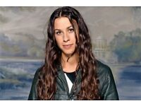 2 x Standing tickets for Alanis Morissette - London Apollo - 13th July