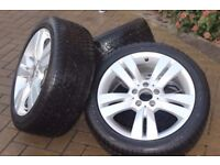 "Genuine Mercedes Benz 17"" Alloy Wheel Set & Dunlop Winter Tyres"