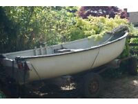 "Fishing Boat - Tender, in need of renovation - 12ft 6"" long x 5ft wide"
