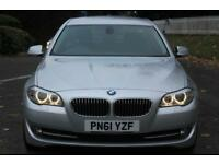 BMW 5 SERIES 2.0 520D SE 4d 181 BHP RAC WARRANTY + BREAKDOWN CO (silver) 2011
