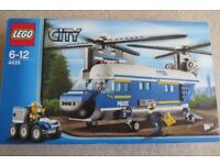 LEGO City Heavy Lift Helicopter 4439, Age 6-12, 100% Complete with Manuals & Box