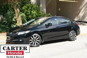 2013 Honda Civic Touring + NAVI + LEATHER + CERTIFIED!