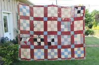 Early Utility Quilt - Great for Crafts, Pillows, etc.