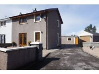 Semi-detached 3 bedroom modern house in the village of Lairg, Clashbreac, offers around £115,000.