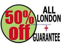 50% OFF ALL LONDON PROFESSIONAL END OF TENANCY CLEANING SERVICES CARPET CLEANERS DOMESTIC BUILDERS