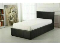 🔵💖🔴GREAT OFFER 🔵💖🔴(3ft) Single Size Leather Storage Bed Frame With Opt Mattress-Order Now