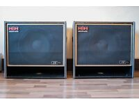"PAIR OF HH ELECTRONIC VINTAGE 115PA BASS BINS / PA SPEAKERS ( 15"" 100 watt 8 Ohm)"