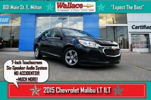 2015 Chevrolet Malibu 1LT/ACCIDENT-FREE!/7-INCH TOUCHSCREEN/6-SP