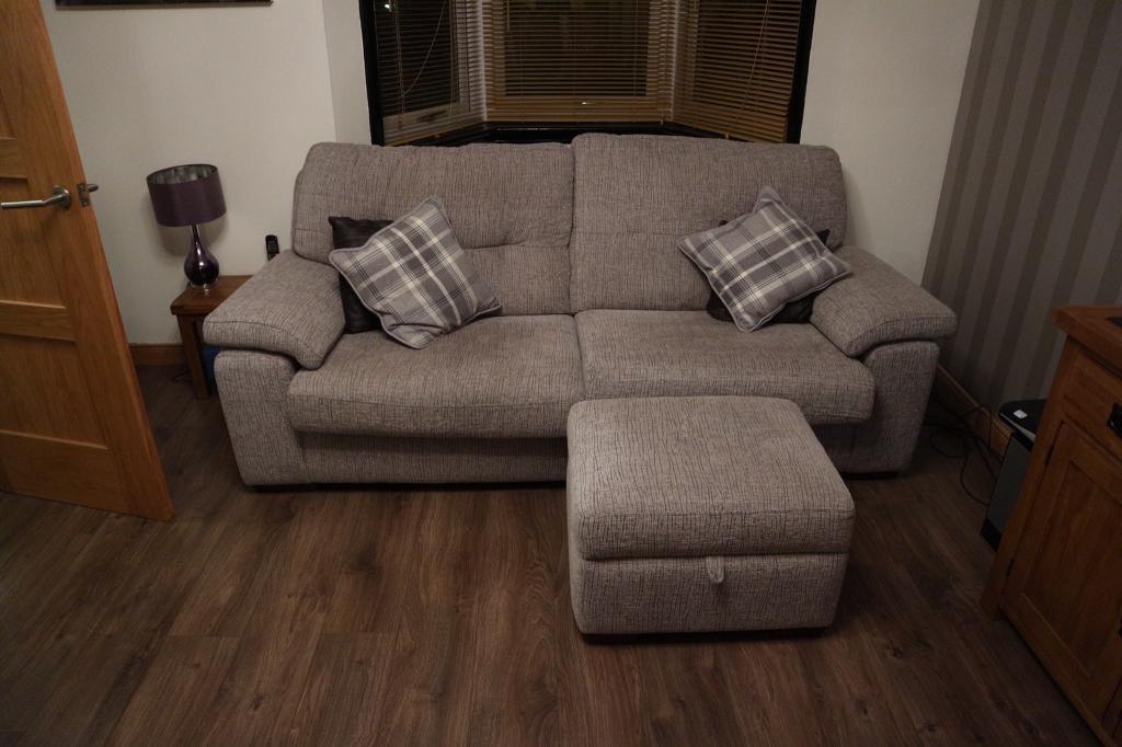 Dfs Albany Sofa With Storage Pouffy