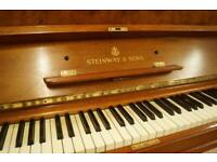 Steinway model V upright piano. Tuned and delivery available