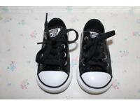 Converse All Star Infant 4 Black Glitter