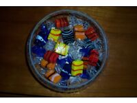 glass sweets x 16 and beautiful dish ex con