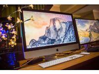 "Apple iMac 27"" - 16 GB DDR3 RAM - 2TB HDD - 2.8 GHz i5 Quad Core - RRP £1600"