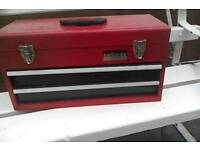 Halfords two draw tool box