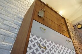 1960's G Plan Librenza Chest of Drawers with brass detail by E Gomme/RETRO SIDEBOARD (free delivery)