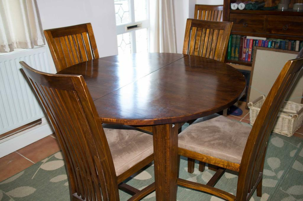 wood extending dining table and 4 chairs united kingdom gumtree