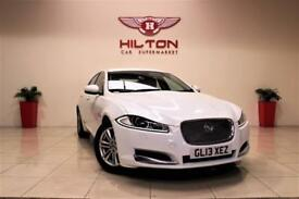 JAGUAR XF 2.2 D LUXURY 4d AUTO 163 BHP + SAT NAV + AIR CON + (white) 2013