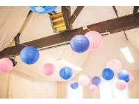 Paper lanterns pink & blue