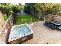 LARGE GARDEN & HOT TUB WITH OUTDOOR TV! Fully Furnished Holiday Let with All Bills Included