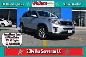 2014 Kia Sorento LX V6/1-OWNER/AWD/HEATED SEATS/NO ACCIDENTS