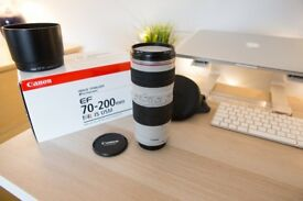 Excellent Condition - Canon EF 70-200mm F/4 with Image Stabiliser - Like new / Excellent Condition
