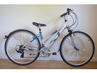 LADIES HYBRID BIKE RALEIGH PIONEER GLX QUALITY THUMB SHIFT GEARS IN GOOD ALL ROUND CONDITION £57