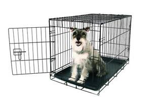 (DI19) Carlson Pet Products Secure and Foldable Single Door Metal Dog Crate Medium -NOBOX