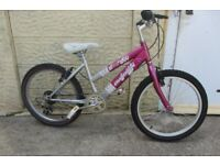 GIRL'S RALEIGH KRUSH BIKE 20inch WHEELS