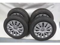 VW GOLF 7 VII 195/65/R15 SET OF 4 WHEELS WITH WINTER TYRES DUNLOP 15''