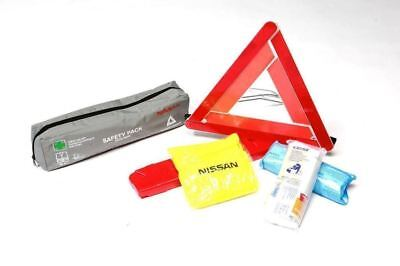 Nissan Car Safety Pack First Aid Kit Yellow Jacket Warning Triangle KE93000024