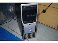 Gaming Desktop 12GB RAM - 500GB HD - 3GB HD7950 - Quad Xeon (i7 equiv) Dell Precision T3500 - Win 10