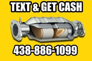We buy Catalytic Converter, Nous achetons catalyseur junk metal, aluminum copper,