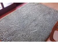 Green Rug 120 cm x 170 cm thick shaggy style rug