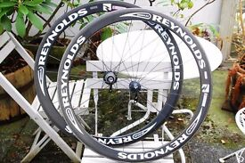 Reynolds Assault Clincher deep section carbon wheels 700c Shimano like Zipp Mavic