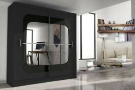 CASH ON DELIVERY-BRAND NEW GERMAN 2 DOOR MIRROR BEDROOM WARDROBE IN 5 COLOURS-FAST DELIVERY