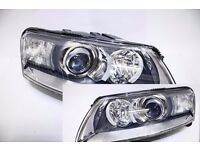 New Pair of Right hand drive UK Xenon headlights A6 4F 2005 - 2008 (2011) COMPLETE RHD