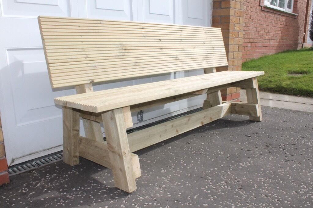 new handmade furniture wooden 1 8m garden patio table and bench