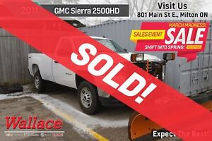 2011 GMC SIERRA 2500HD WT/ARCTIC PLOW/LOW KM/ONE OWNER