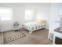 A SUPER self-contained Studio Flat ON THE TOP FLOOR - STOKE NEWINGTON N16 BILLS INC